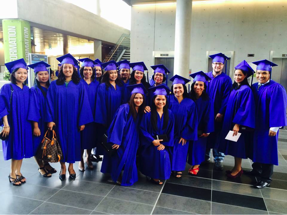 Academy of Learning College graduates at New Surrey City Hall in BC