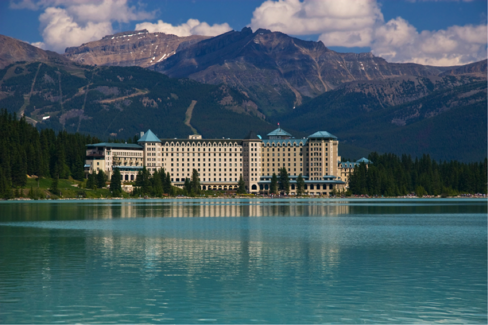Fairmont's Chateau Lake Louise is famous for 5-star service and spectacular Rocky Mountain views
