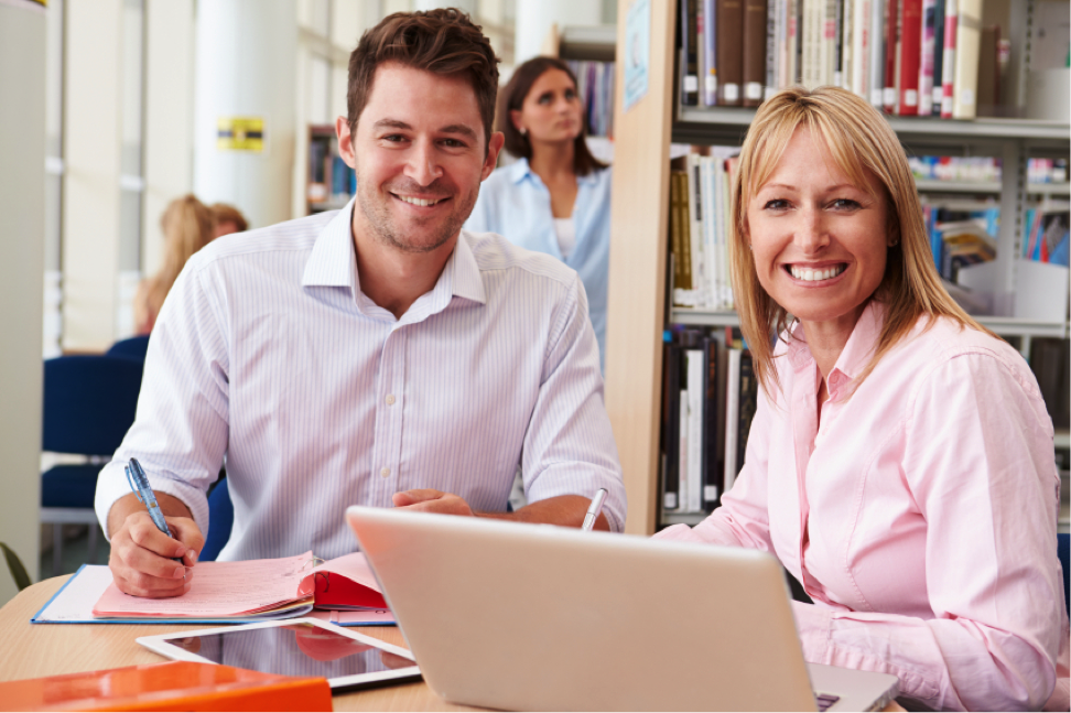 At AOLC, staff is always available to support you both in-class and online.