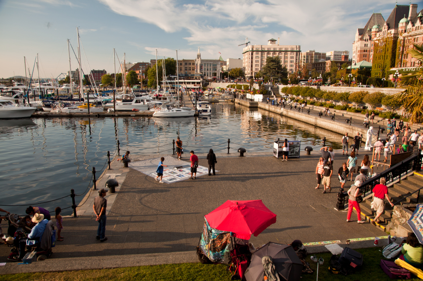 There's plenty of commercial business opportunity in bustling downtown Victoria, BC.