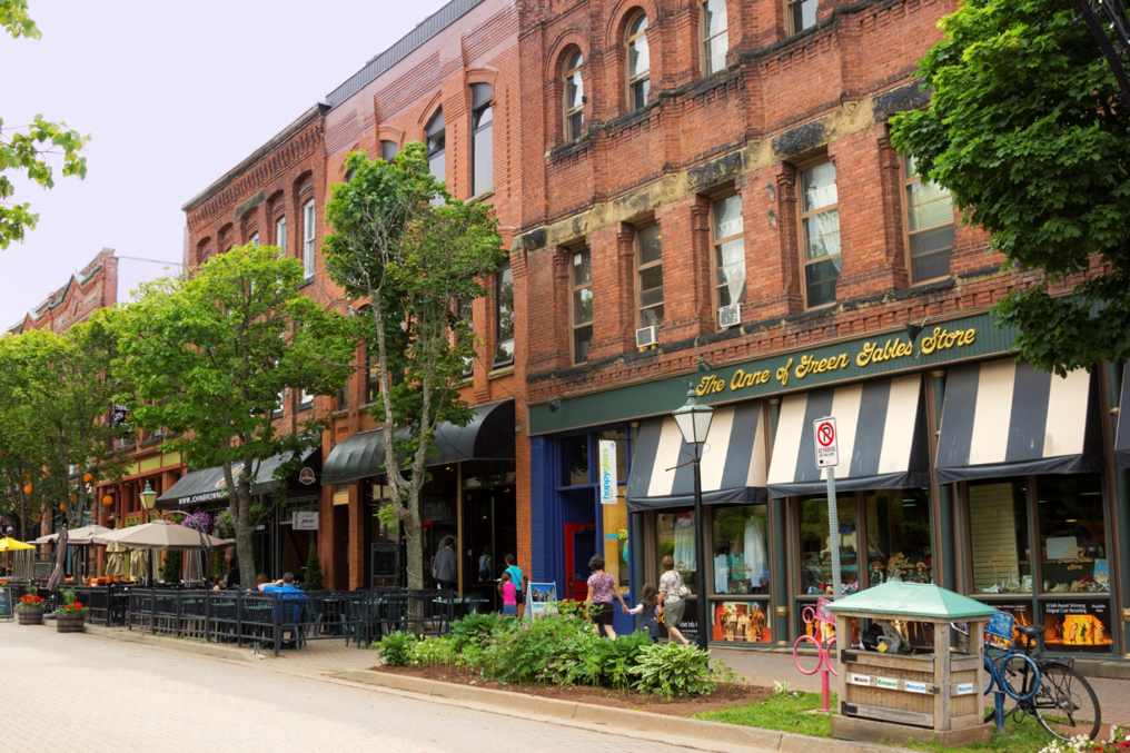 Bustling businesses on Charlottetown's Victoria Row